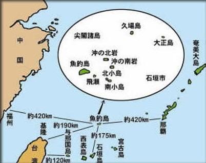 尖閣諸島 地図