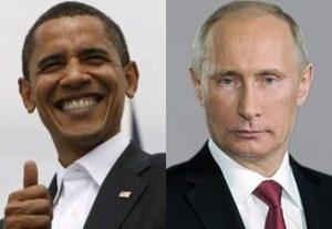 オバマとプーチンの画像
