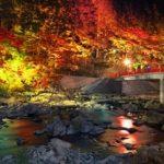香嵐渓の紅葉の見頃は?ライトアップの期間や時間と渋滞の回避や情報も!