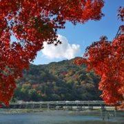 嵐山渡月橋紅葉画像