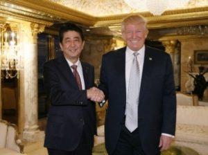 安倍首相とトランプ