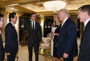 安倍首相とトランプ次期大統領とその長女