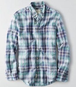 アメリカンイーグルシャツ緑