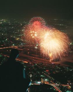 長良川花火大会の時間,穴場とアクセス方法!ホテルから見るならココ