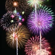 昭和記念公園-花火写真