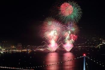関門海峡花火大会の下関・門司側の穴場スポットと観賞出来るホテルのおすすめ