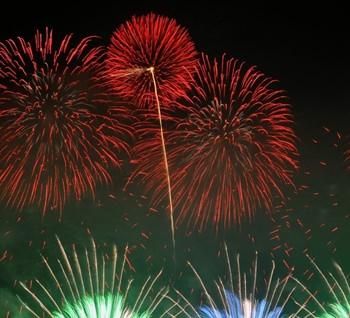 土浦全国花火競技大会の写真