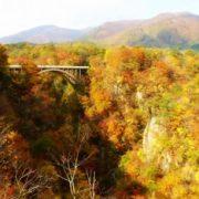 鳴子峡 紅葉の画像