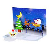 飛び出るクリスマスカード
